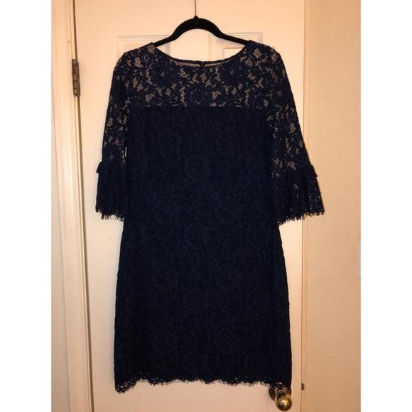 Lauren Ralph Lauren Dresses & Skirts - Lauren Ralph Lauren Navy Lace 3/4 Sleeve Dress